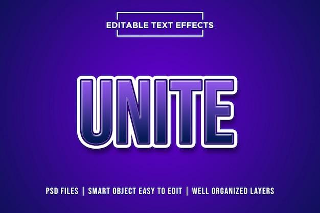 Unir efeito de texto premium 3d