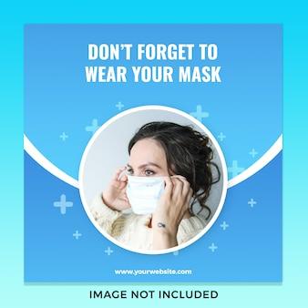 Usando máscara covid19 coronavirus