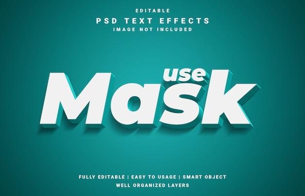Usar efeito de texto reconhecimento de máscara
