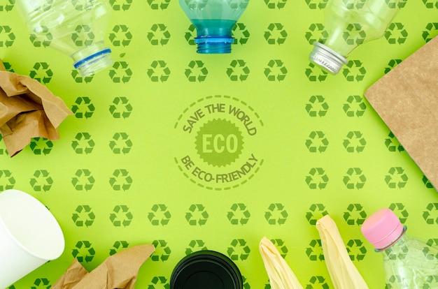 Utensílios de plástico e ecológicos