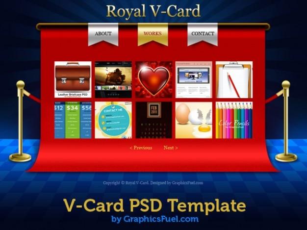 V website cartão psd modelos