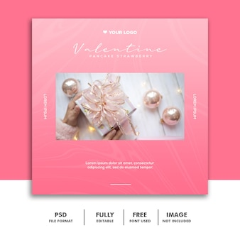 Valentine banner social media post instagram gift