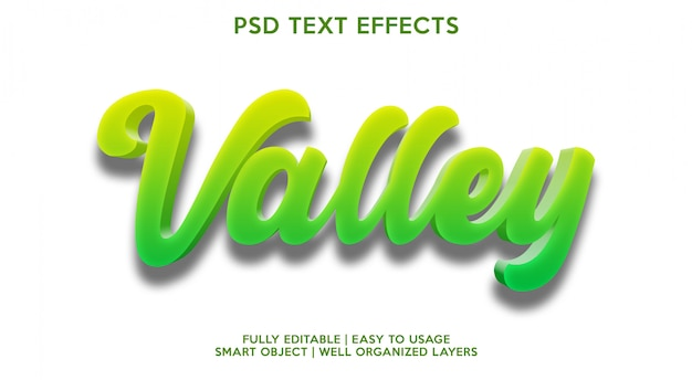 Valley text effect template
