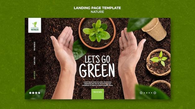 Vamos para a página de destino verde
