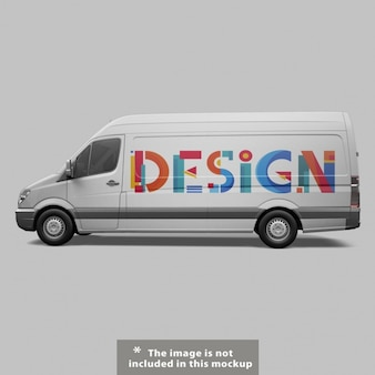 Van mock up projeto
