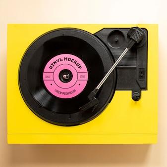 Variedade com maquete de disco de vinil