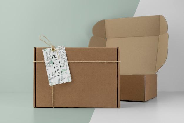 Variedade com modelo de etiqueta de caixa de artesanato