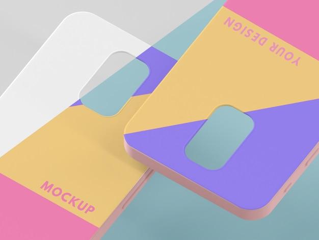 Variedade criativa de maquete de capa de telefone