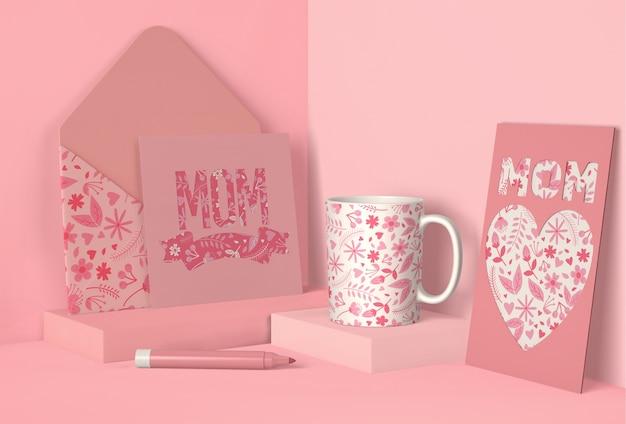 Variedade criativa para maquete do dia das mães
