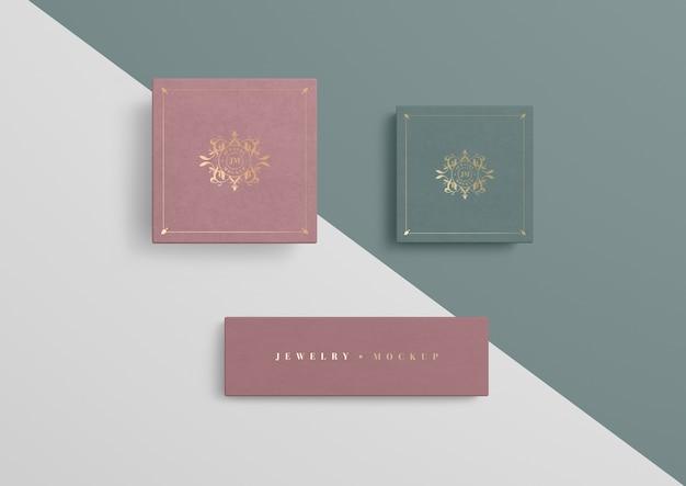Variedade de caixas de presente de embalagem de jóias