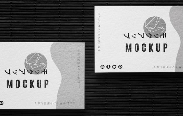 Variedade de cartão de visita comercial