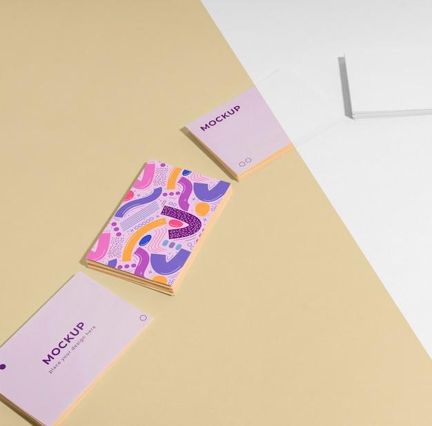 Variedade de cartão de visita padrão