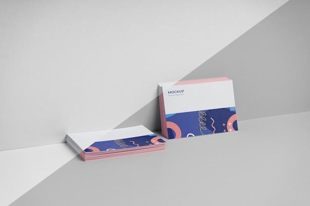 Variedade de cartões de visita padrão