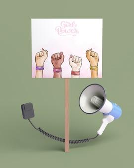 Variedade de conceito de poder de garota