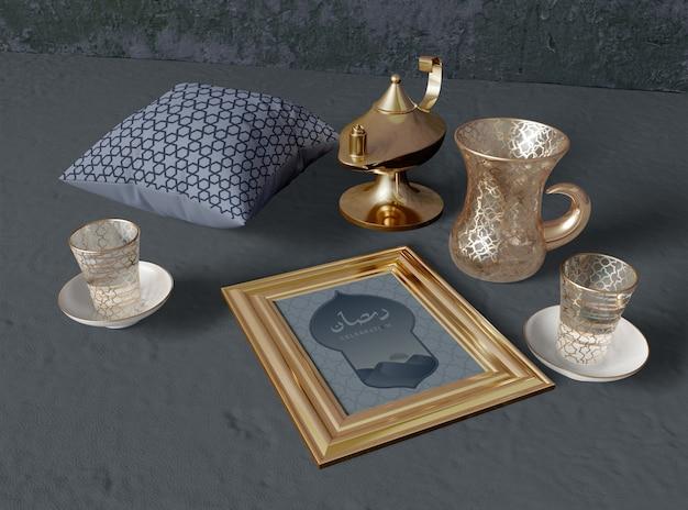 Variedade de diferentes objetos do ramadã