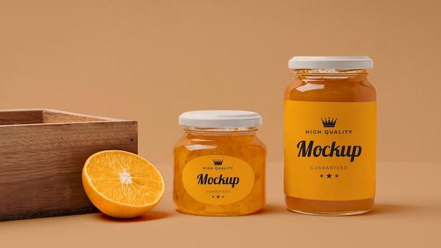 Variedade de embalagem de frasco de geléia mock-up