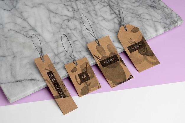 Variedade de etiquetas de cabide artesanal