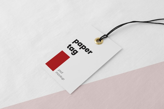 Variedade de etiquetas de papel mock-up