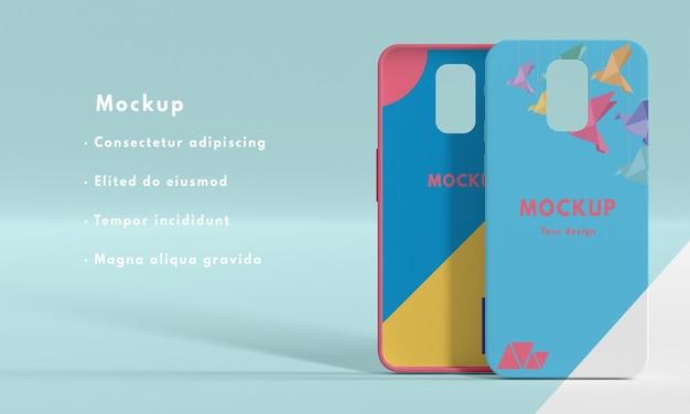 Variedade de maquete de capa de telefone