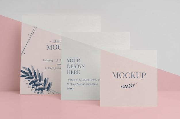 Variedade de maquetes de convite elegante