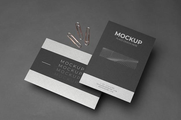 Variedade de mock-up de artigos de papelaria corporativos de alto ângulo Psd grátis