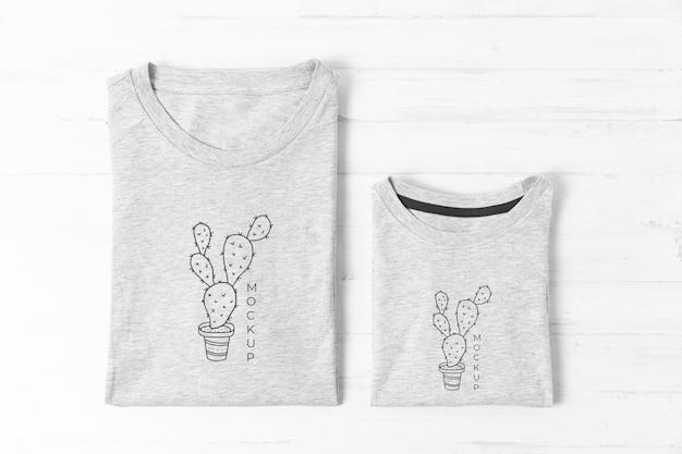 Variedade de mock-up de camisetas para o dia dos pais
