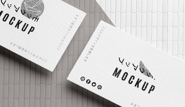 Variedade de mock-up de cartão de visita plano