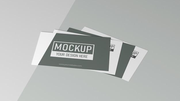 Variedade de mock-up de cartão de visita