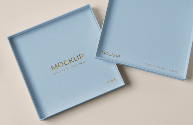 Variedade de mock-up de embalagem premium