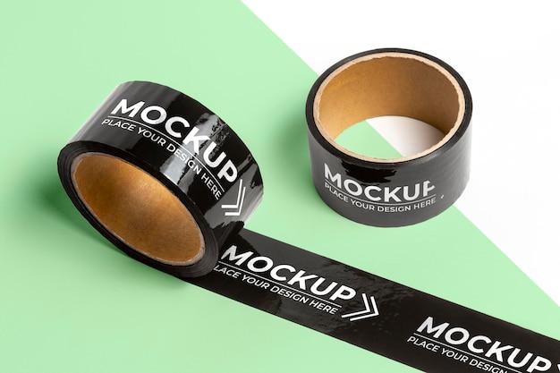 Variedade de mock-up de fita de embalagem