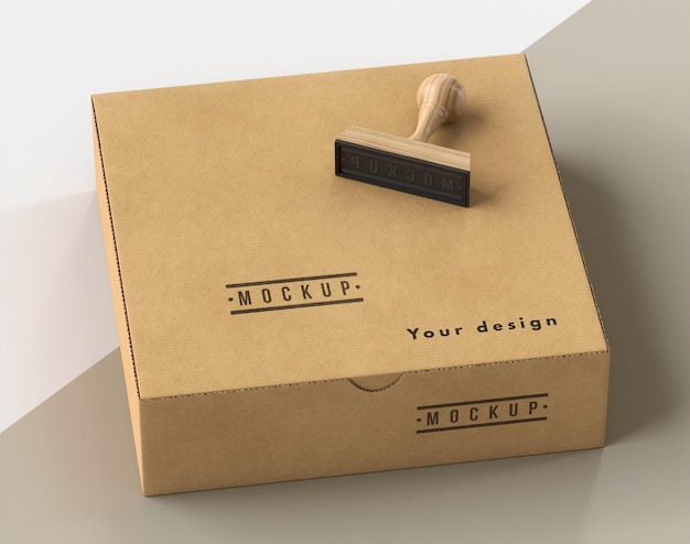 Variedade de selo e caixa etiquetada