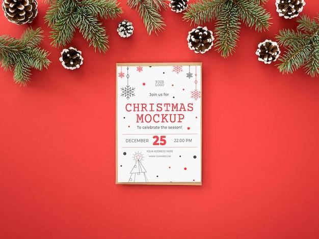 Variedade de véspera de natal com cartão