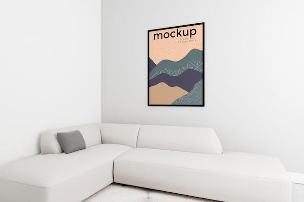 Variedade decorativa com maquete de quadro