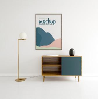 Variedade doméstica com maquete de quadros