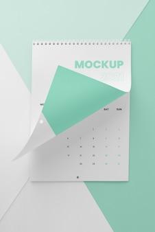 Variedade mínima de mock-up de calendário