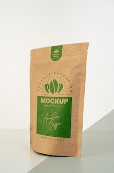 Variedade minimalista de mock-up doypack