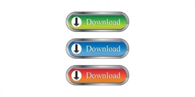 Vários botões de download psd