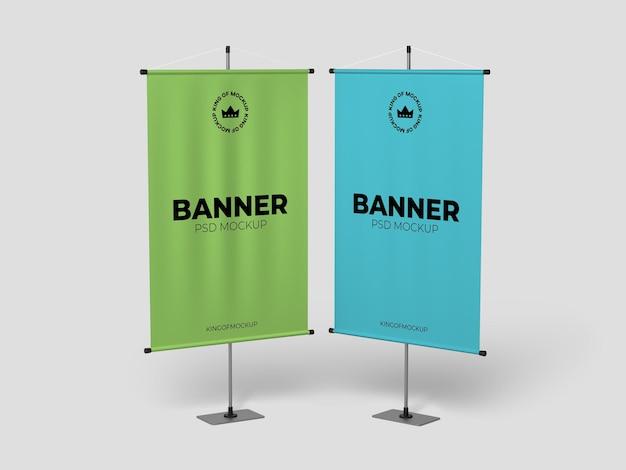 Vários designs de maquete de banner de suporte isolado