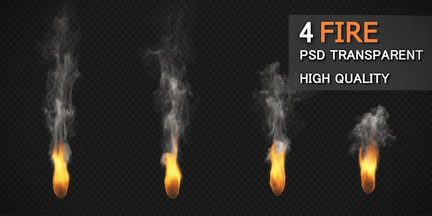 Vários estilos de fogo pack isolado