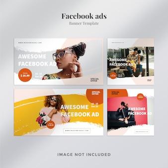 Vários modelos de anúncios do facebook
