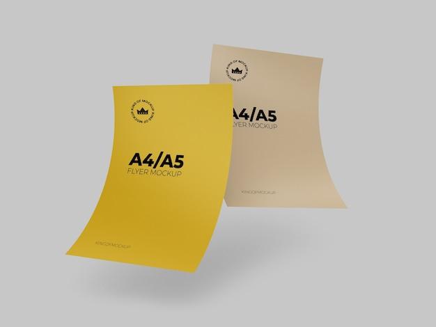 Vários modelos de panfleto timbrado isolado