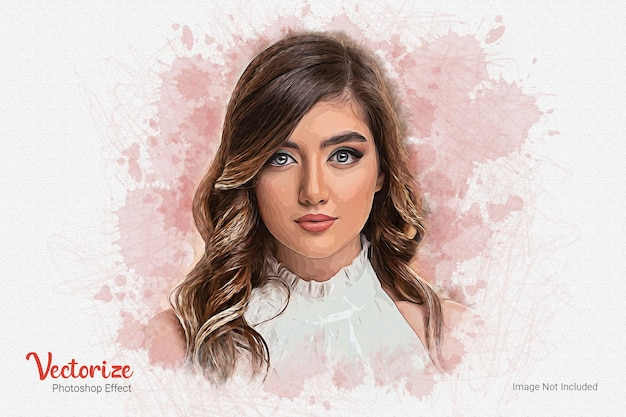 Vector painting deep photo effect