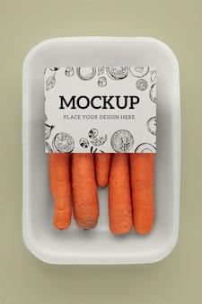 Veja mais detalhes sobre a maquete de embalagem vegana