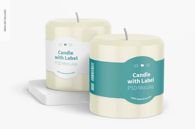 Velas com label mockup