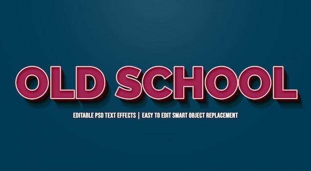 Velha escola em efeitos de texto vintage