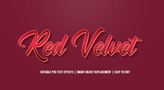 Veludo vermelho - efeitos de texto antigos do vintage
