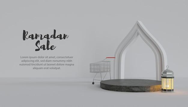 Venda 3d do ramadã com pódio