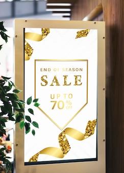 Venda até 70% de desconto em maquete de cartaz