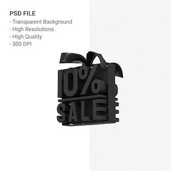 Venda de 10% com design 3d de arco e fita