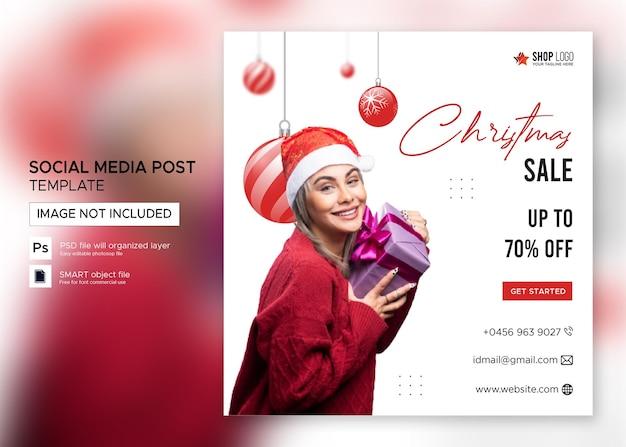 Venda de banner de natal postagem no instagram premium psd